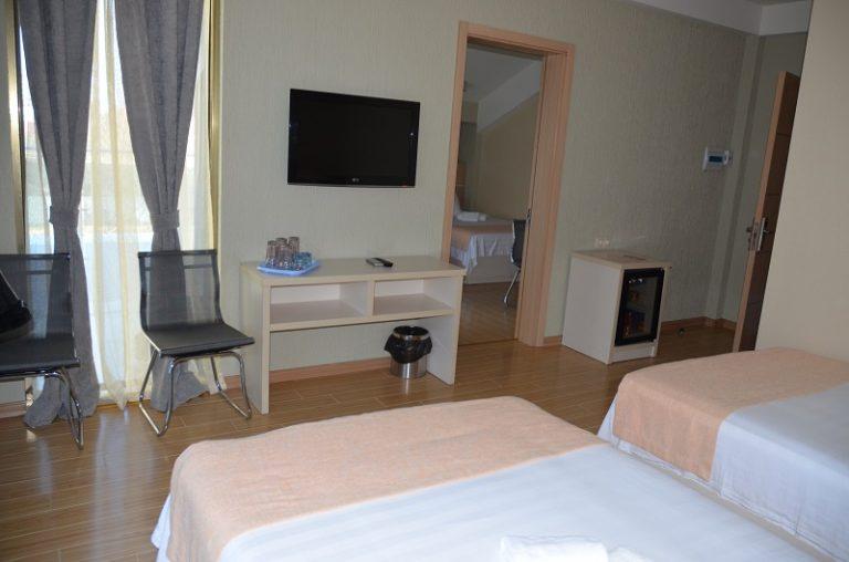 tv in hotel room
